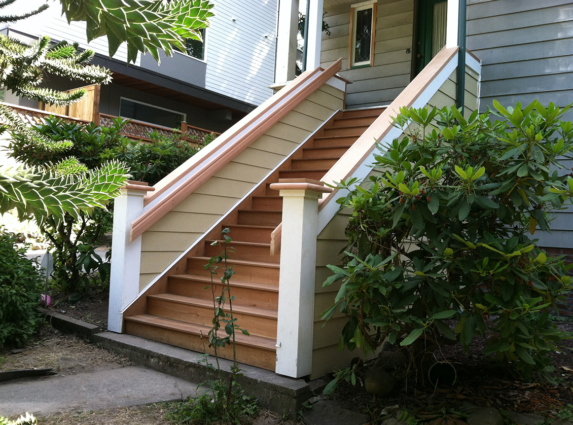 New Exterior Front Entry Stairs Seattle Historic Home