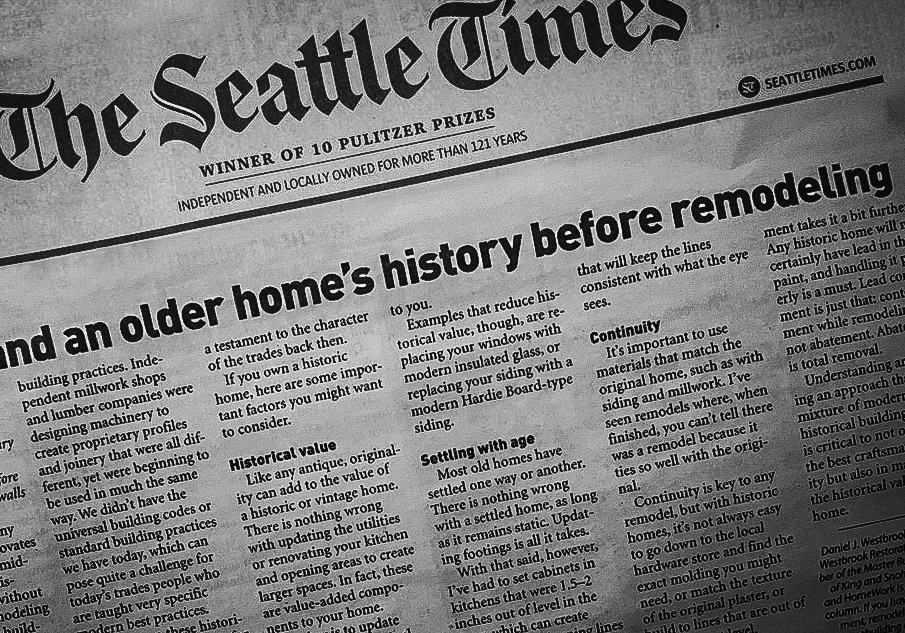 Seattle Historic Home Restoration | Quality Carpentry & Millwork